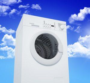 washing machine and blue sky
